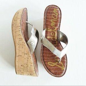 Sam Edelman Romy Sandals in Silver